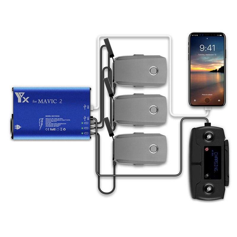 Mavic 2 Drone chargeur de batterie 5in1 moyeu de charge avec port USB pour DJI Mavic 2 Zoom/Pro batterie intelligente drone accessoires