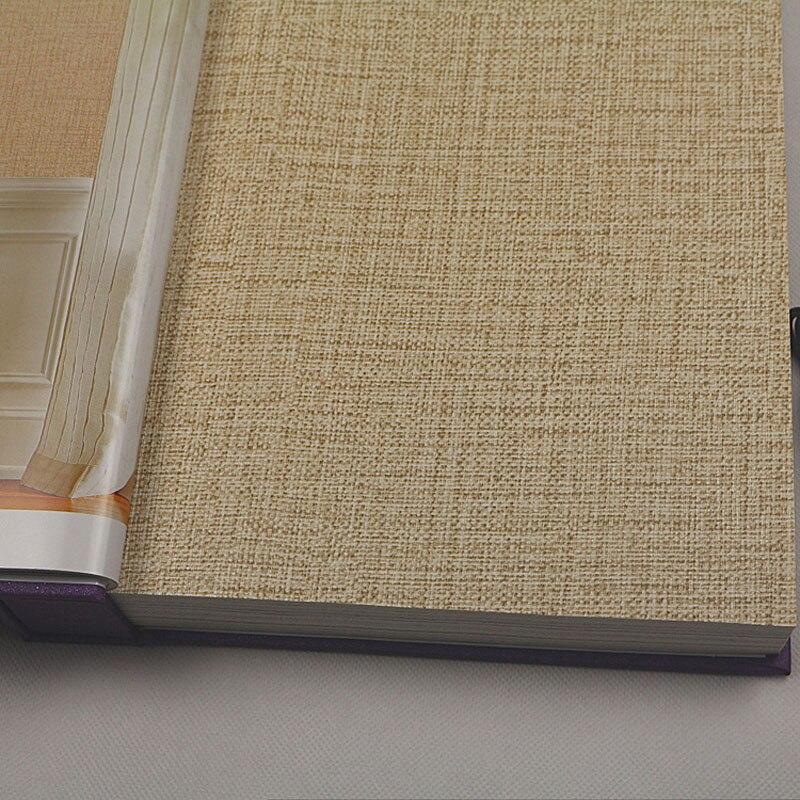 Modern Linen Grasscloth Wallpaper Designs Beige Brown PVC Fiber Flax 3D Textured Solid Color Wall Papers for Living Room Walls