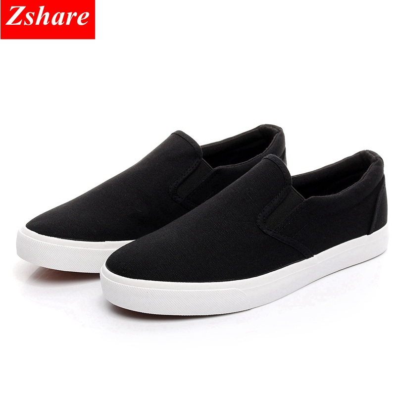 2019 Fashion Canvas Shoes Men Shoes Casual Slip On Shoes Breathable Sneakers Men Loafers Comfortable Flats Shoes Big Size 45 46
