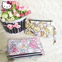 Hello Kitty Cute Cartoon Makeup Bag Gift Pendant Purse Women Girl Clutch Purse Wrist Bag Make Up Wash Beauty Girl Plush Backpack