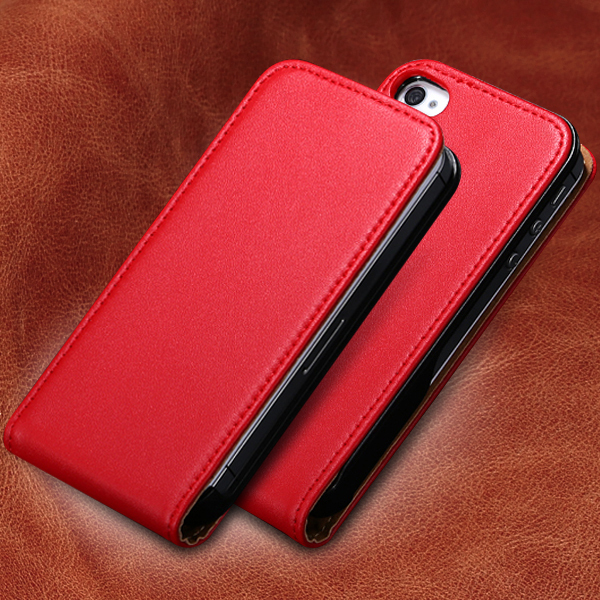 Genuine Leather Vertical Flip Mobile Phone Case For Appl iPhone 4S 4 4G Ultra Slim Korean Style Cover For iPhone 4S Shock Proof