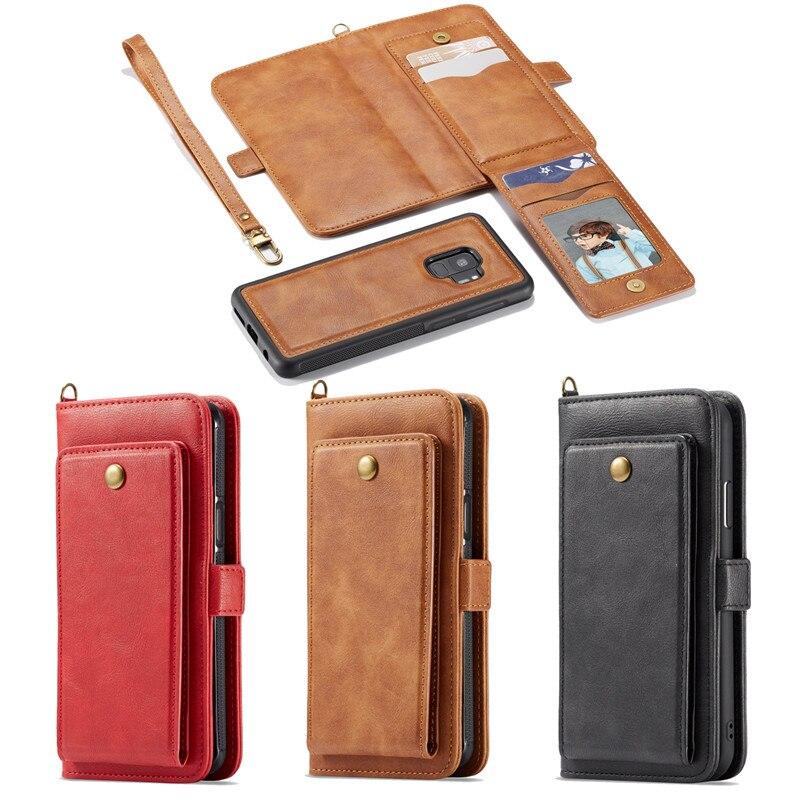 For Samsung Galaxy S8 Genuine Retro Handbag Leather Wallet ...