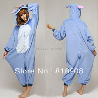 Cute Unisex Adult Onesie Pajama Anime Cosplay Costume Dress Blue Stitch