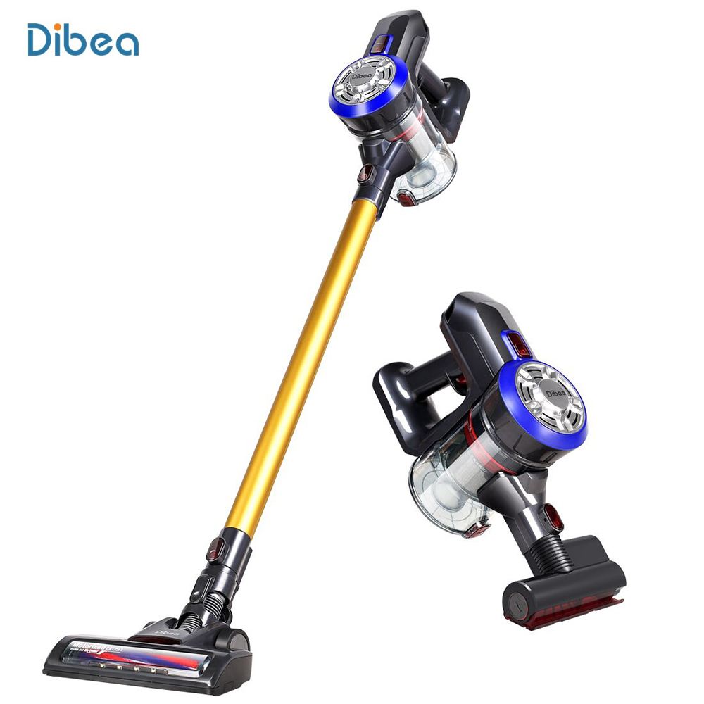 Dibea D18 Cordless Handheld Vacuum Cleaner Cyclone Filter Strong Suction Dust Collector Household Aspirator With Motorized Brush drill buddy cordless dust collector with laser level and bubble vial diy tool new