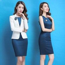 2018 Dress Women's Sexy Summer Specialty Asymmetric Slim Temperament Plus Size Dress Plus Suit Jacket