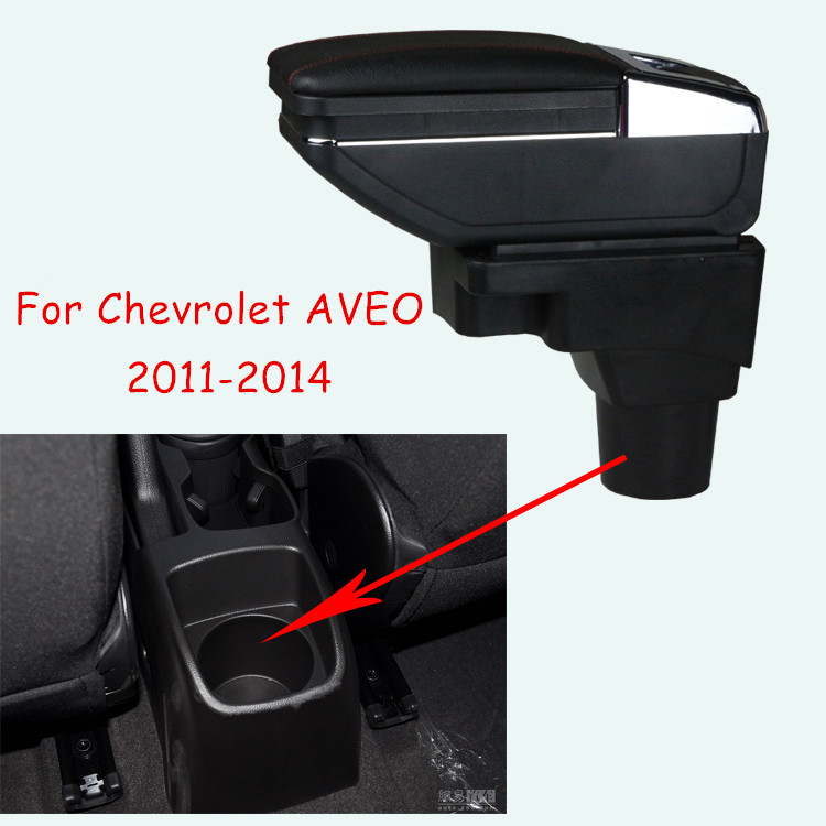 Chevrolet Tracker 2018 >> Turnable CAR ARMREST For Chevrolet AVEO 2011 2014 car Storage box Arm rest with cup holder ...