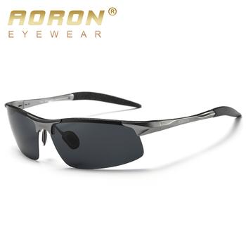 AORON jazdy okulary przeciwsłoneczne polaroid aluminiowa rama sportowe okulary przeciwsłoneczne mężczyźni spolaryzowane kierowcy Retro UV400 przeciwodblaskowe gogle tanie i dobre opinie Naczepy rimless Dla dorosłych Aluminium Magnezu 40 mm HD8177 68 mm 13 mm 148 mm 132 mm UV protection anti-glare anti-vertigo