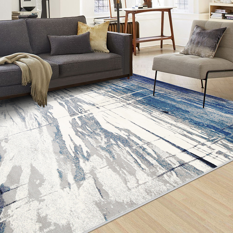 Blue Mediterranean Carpet Livingroom Nordic Wilton Rug Home Bedroom Carpet Sofa  1