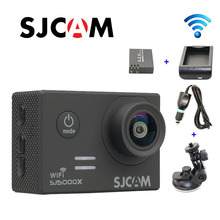 Free shipping!!Original SJCAM SJ5000X WiFi Elite 4K 24fps Gyro Action Cam +Extra 1pcs Battery+Battery Charger+Car Charger+Holder