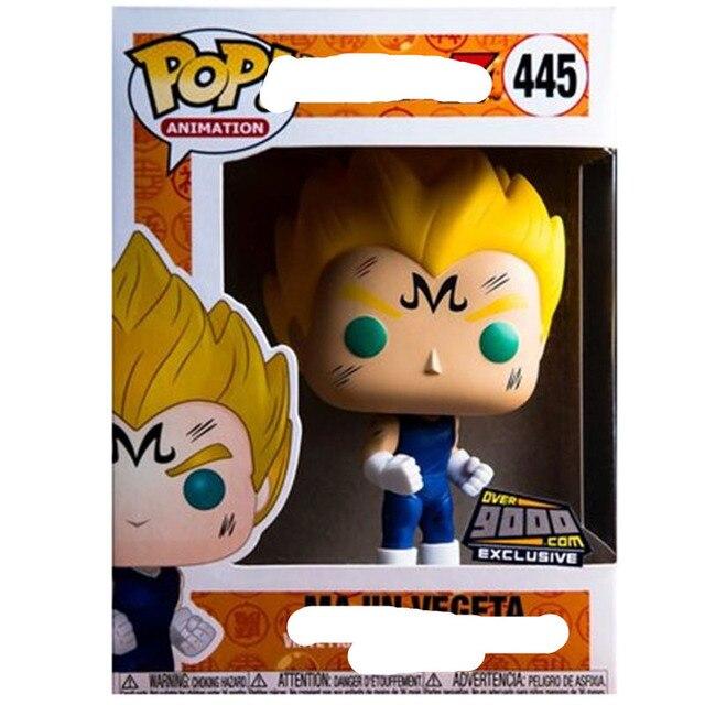 Funko pop Japonês Amine Personagens de Dragon Ball VEGETA Vinyl Collectible Modelo Figuras de Ação Brinquedos para As Crianças presente de aniversário