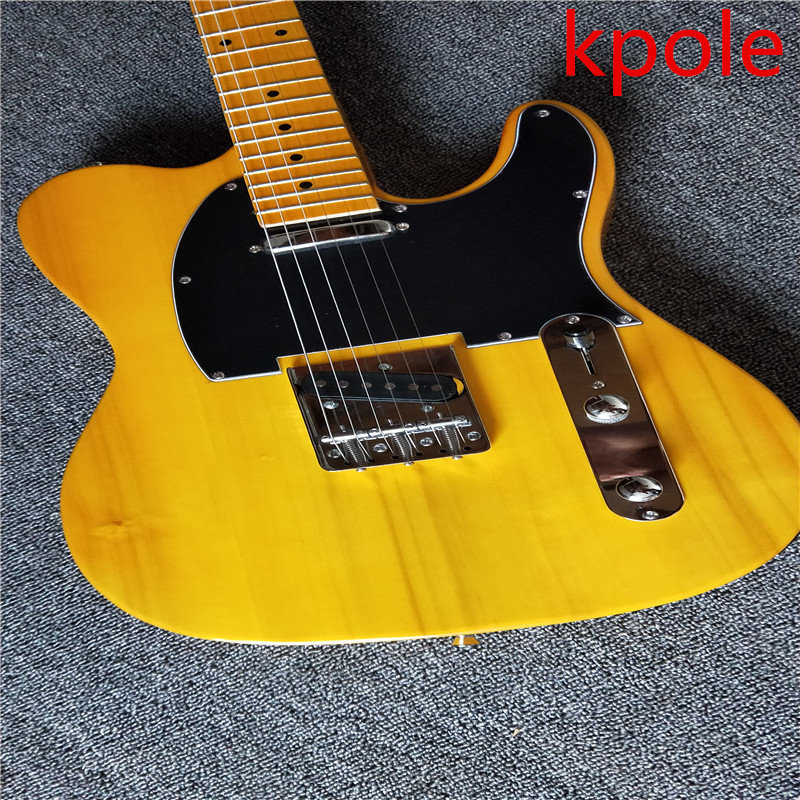 Kpole electric guitar, transparent light yellow TL electric guitar, chord board electric guitar