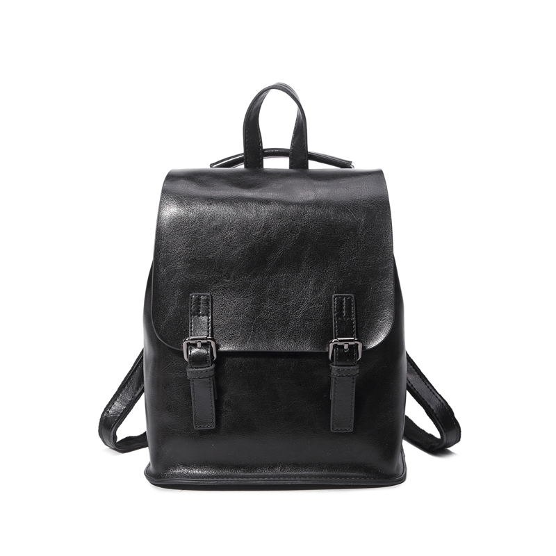 Women's Bags Buy Cheap Cowhide Backpack Vintage College School Backpack For Teenage Girl Womens Natural Leather Backpack Japanese Street Style Package
