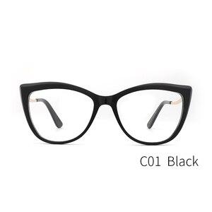 Image 4 - Acetate แว่นตาสตรีแว่นตาผู้หญิงสายตาสั้นสีเขียวกรอบแว่นตาแฟชั่นแว่นตา #9015