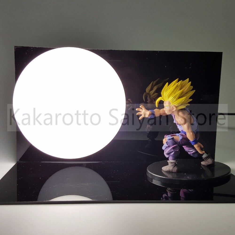 ღ ღDragon Ball Z Anime Son Gohan Action Figures Kamehameha DIY ...