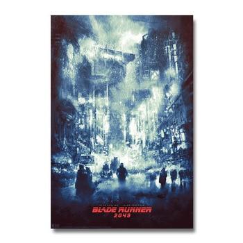 Плакат гобелен Бегущий по лезвию Шелк