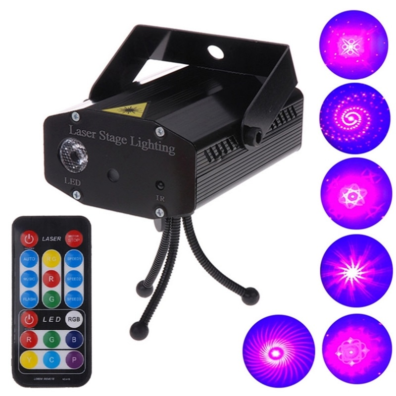 2 color LED 6 in 1 Stage Effect Light Mini DJ Club Disco KTV Party Bar Show Projector with Remote Control Laser Lighting led crystal stage light for disco party club bar dj ball bulb multi changing color rose lantern