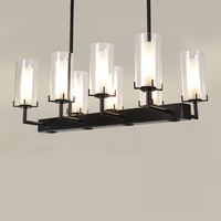 New Chinese Style Candle Chandelier Antique Counter LampTeahouse WROUGHT IRON Lamps BLACK 8/12 heads light ZA323514