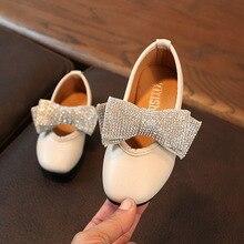 BAIYOUXIONG Дитяча дівчина взуття Fashion Princess Bowknot танцювальна шкіра Nubuck одне взуття Повсякденне тверде PU Baby Girls взуття 2018