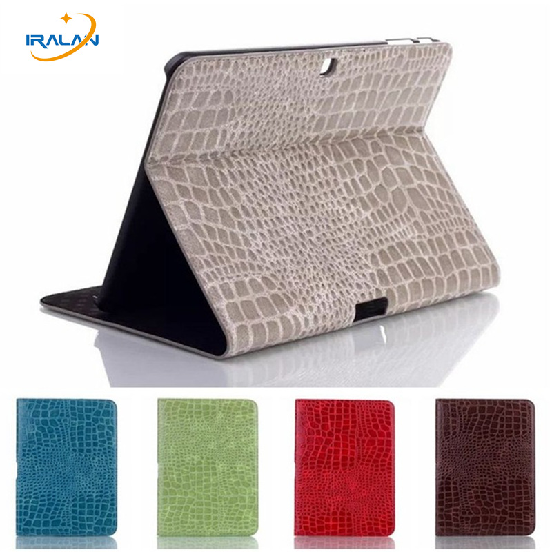 PU Crocodile Leather Stand Cover for Samsung Galaxy Tab 4 10.1 T530 T531 T535 Tablet Business Ultra Thin Flip Case+stylus+screen ultra thin smart pu leather cover funda case for samsung galaxy tab s2 t710 t713 t715 t719 8 0 tablet screen protector pen
