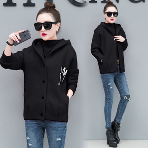 YICIYA soft black Plush coat women jacket plus size hooded coats thick warm winter clothes 2019 spring short casual outerwear