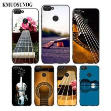For Huawei P8 P9 P10 P20 P30 Pro Lite P Smart Plus Y6 Y9 2017 Black Soft Silicone Phone Case Bass Guitar Strings Style