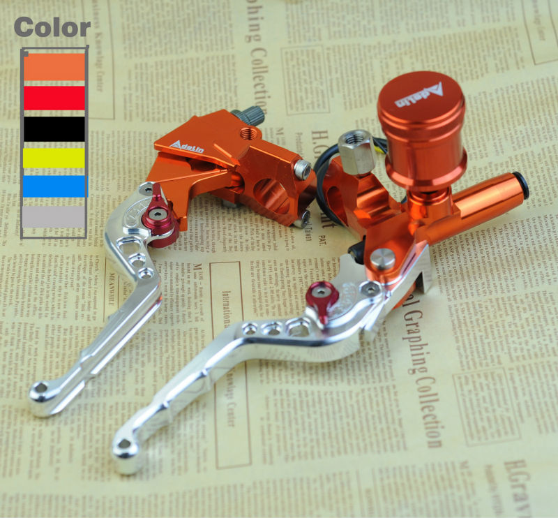 Motorcycle Brake Pump set Motorbike line lever handlebar piston master cylinder for honda yamaha kawasaki suzuki cable Clutch