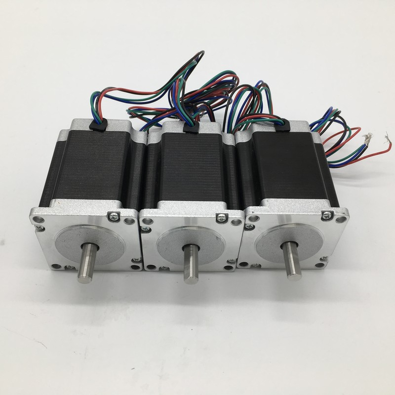 3PCS Nema23 Stepper Motor Dual Shaft 57*100mm 4.2A 2.5Nm 360Oz-in 2ph 4 Wires 3Axis High Torque for CNC Router Lathe3PCS Nema23 Stepper Motor Dual Shaft 57*100mm 4.2A 2.5Nm 360Oz-in 2ph 4 Wires 3Axis High Torque for CNC Router Lathe