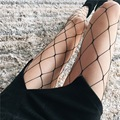 2017 Women Sexy Stockings Highs Waist Stocking Black Lace Fishnet Stockings Mesh Lingerie Female Pantyhose #B0