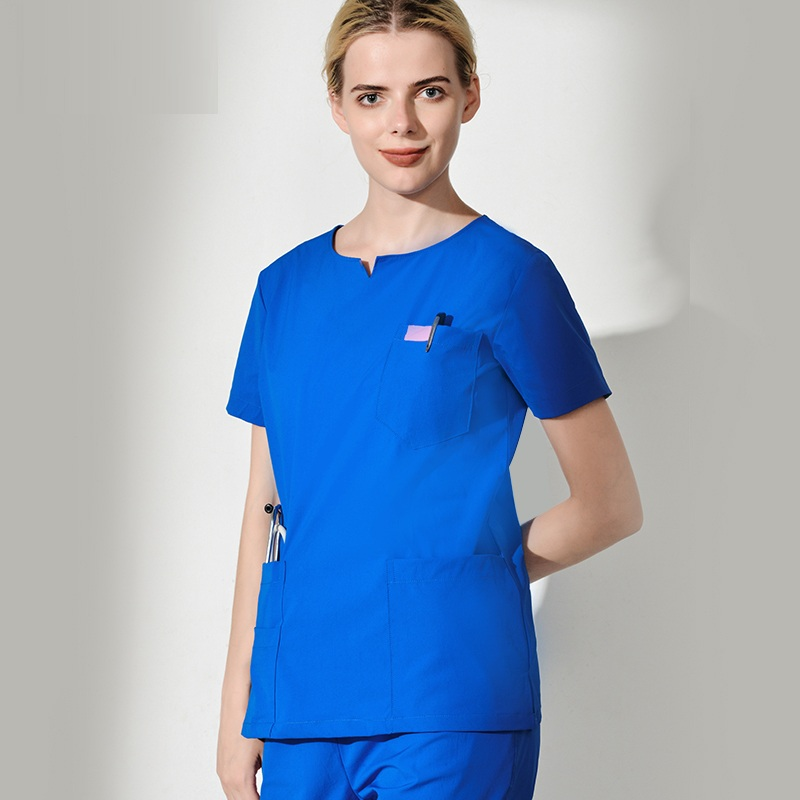 Scrub Tops & Bottoms Gentle 2017 New Womens Long Sleeve Medical Scrub Sets Hospital Doctors Uniforms Dental Pet Clinic Beauty Salon Workwear V-neck Gowns