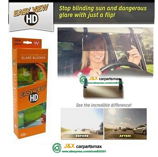 for Clear View HD Vision Day   Night Sun Visor Anti Glare UV Blocker Fold  Flip Down-in Interior Mirrors from Automobiles   Motorcycles on  Aliexpress.com ... 1617b18b51c