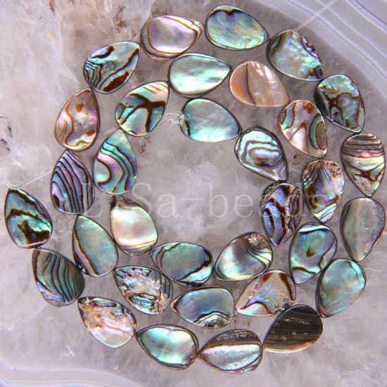"""Darmowa wysyłka moda biżuteria 13x18x4MM naturalne nowa zelandia Abalone Shell luźne koraliki String16 """"O114"""