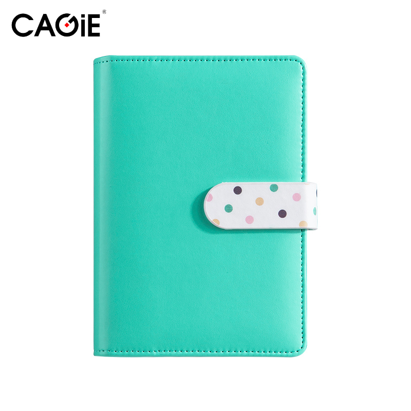 CAGIE Cute Leather Notebook Kawaii ᗑ Colorful Colorful