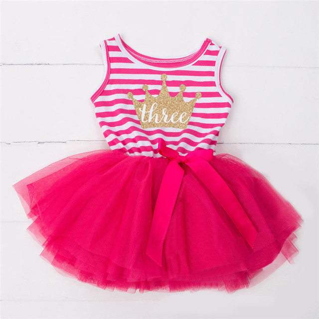 Baby Kids Birthday Designs Dresses For Girls Clothing Vestido ...