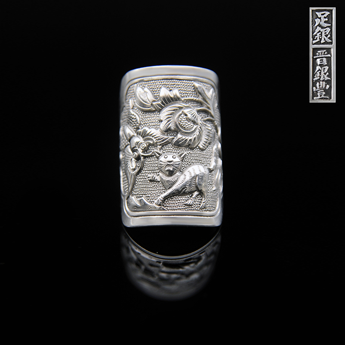 999 sterling silver handmade fine silver ring Jin Yinfeng craft butterfly rich old retro cat ring special offer999 sterling silver handmade fine silver ring Jin Yinfeng craft butterfly rich old retro cat ring special offer