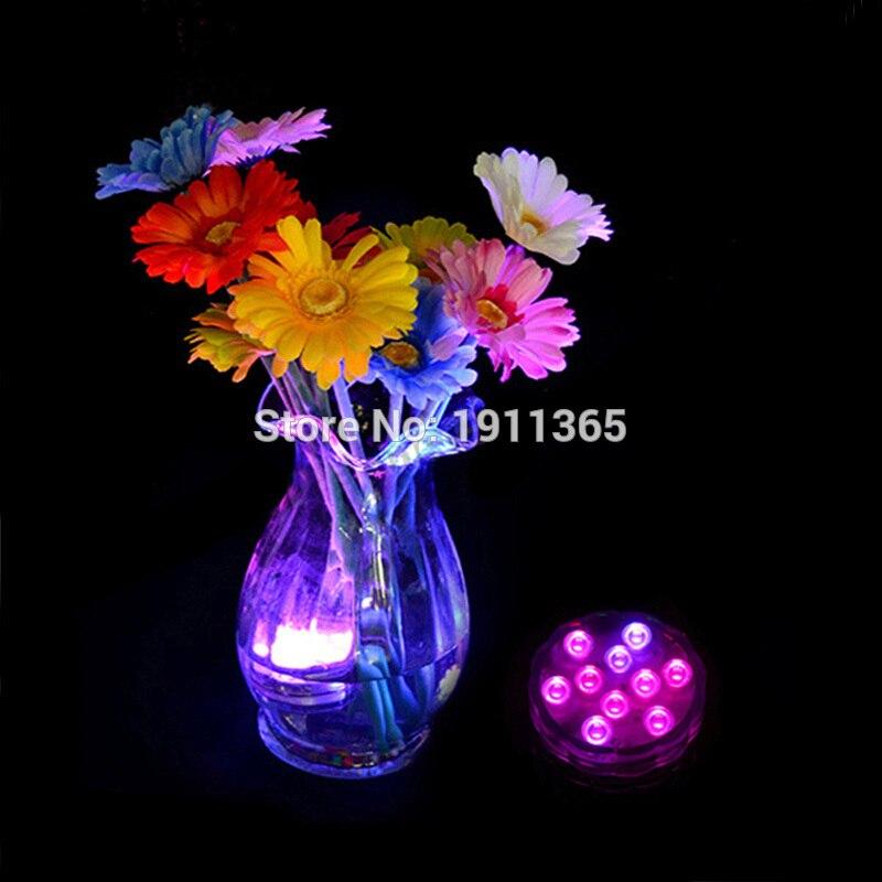 4 pcs Télécommande Submersible LED Floral Lumière De Fête De - Éclairage festif - Photo 6