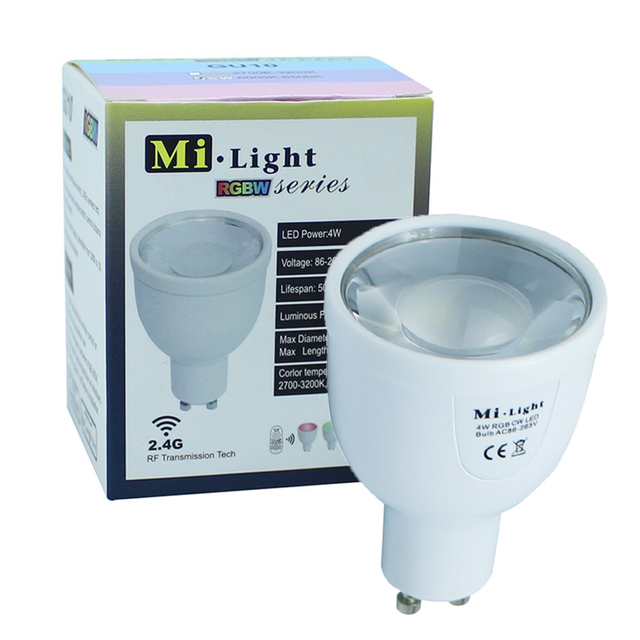 Milight Led Lamps 2.4G Wireless GU10 5W RGBWW RGBW Dimmable Led Spot Light Spotlight Led Bulb Downlight Lighting AC85-265V