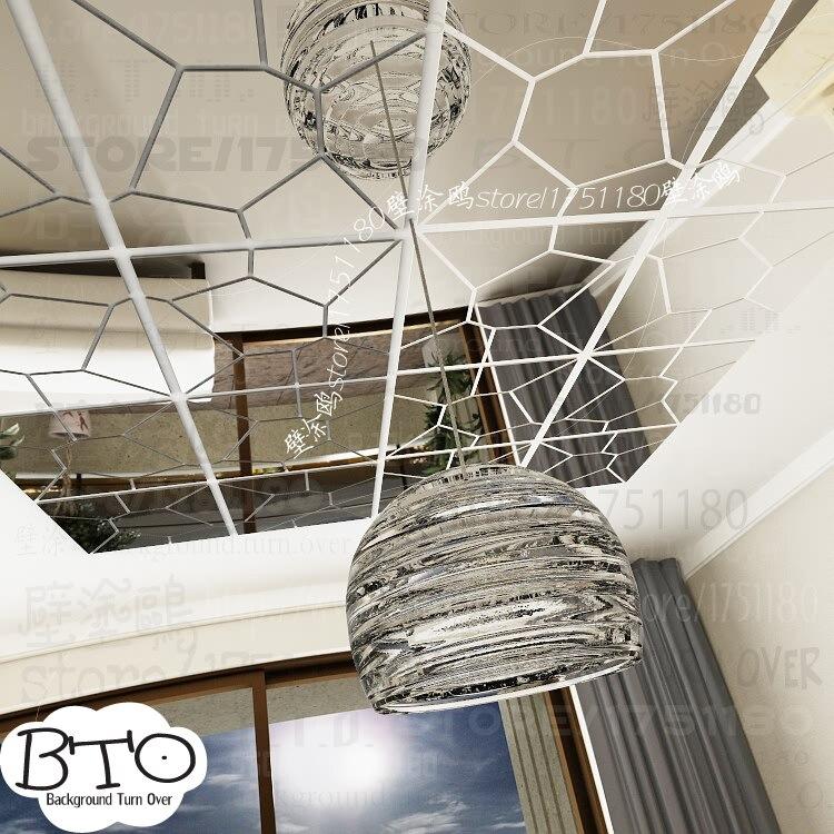Хит продаж, абстрактные 3d зеркальные настенные наклейки в форме кристалла, для спальни, гостиной, дивана, настенные наклейки, декор для сало... - 4