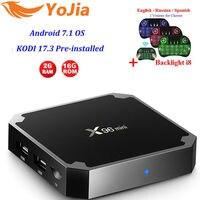 Yojia Opcional 2GB16GB S905W X96 mini Android 7.1 TV BOX Amlogic 1G8G Quad Core 4 K 2.4 GHz WiFi X96mini X96 Inteligente Media Player