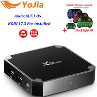 Yojia Optional 2GB16GB Amlogic S905W X96 Mini Android 7 1 TV BOX 1G8G Quad Core 4K