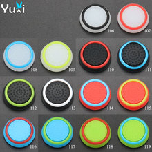 YuXi 4pcs Silicone Analog stick Caps Stick Grips Joystick For PS3 PS4 Pro For XBOX 360 One for Switch Pro Controller цена и фото