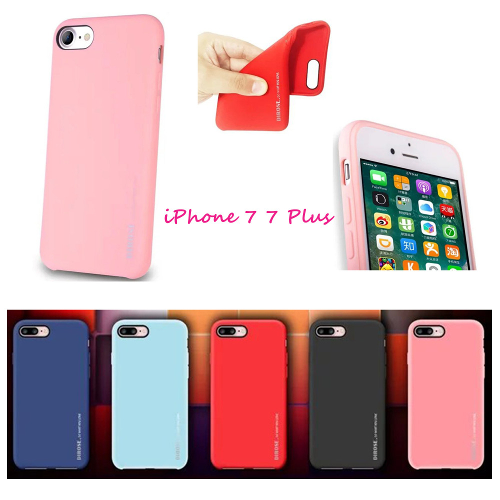 Conque For iPhone 7 Plus 5.5 inch Case Fashion Candy Colors Soft Gel Rubber Skin Protective Ultrathin Case for Apple iPhone7plus