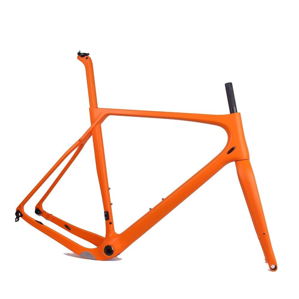 2018 New Model Carbon Road MTB Gravel Bike Frame Full internal cable gravel bike frame size S/M/L/XL Bicycle Frame     - title=