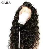 360 Кружева Фронтальная парик предварительно сорвал с ребенком волосы распущены волна естественный Цвет кружева фронтальной натуральные во