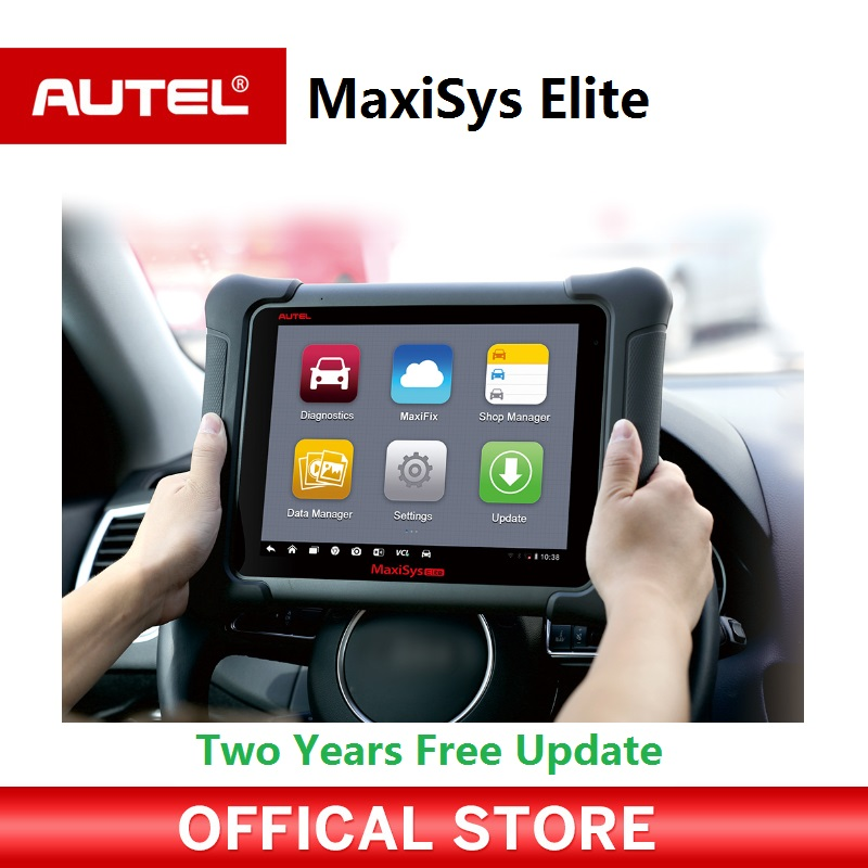 AUTEL MaxiSys Elite Car Diagnosis J2534 ECU Programing tool Faster Than MS908p 908 pro Free Update 2 Years On Autel Website f maschera canzon xiv