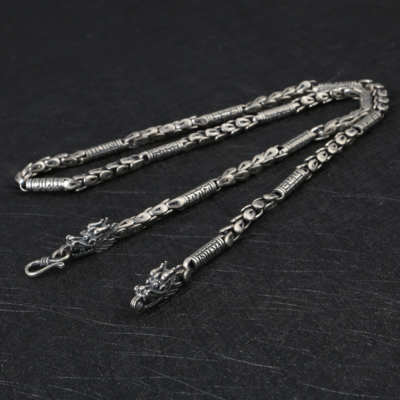 2019 homme 925 bijoux en argent sterling vintage style chinois mode colliers homme dragon type personnalité décoration bijoux