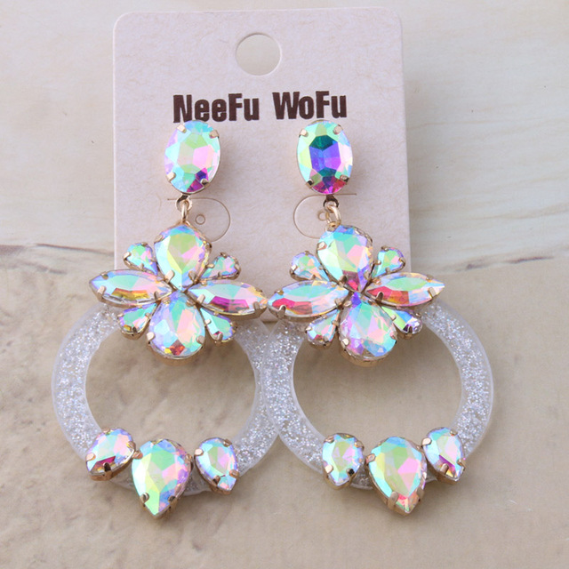 NeeFu WoFu Drop Resin Earrings for woman Brand Crystal Big Earring Large Long Brinco Ear luxurious.jpg 640x640 - NeeFu WoFu Drop Resin Earrings for woman Brand Crystal Big Earring Large Long Brinco Ear luxurious Oorbellen Christmas Gift