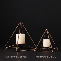 2016 Hot Selling Plating Gold Wrought Iron Candle Holder For Home Decoration European Exquisite Metal Candle