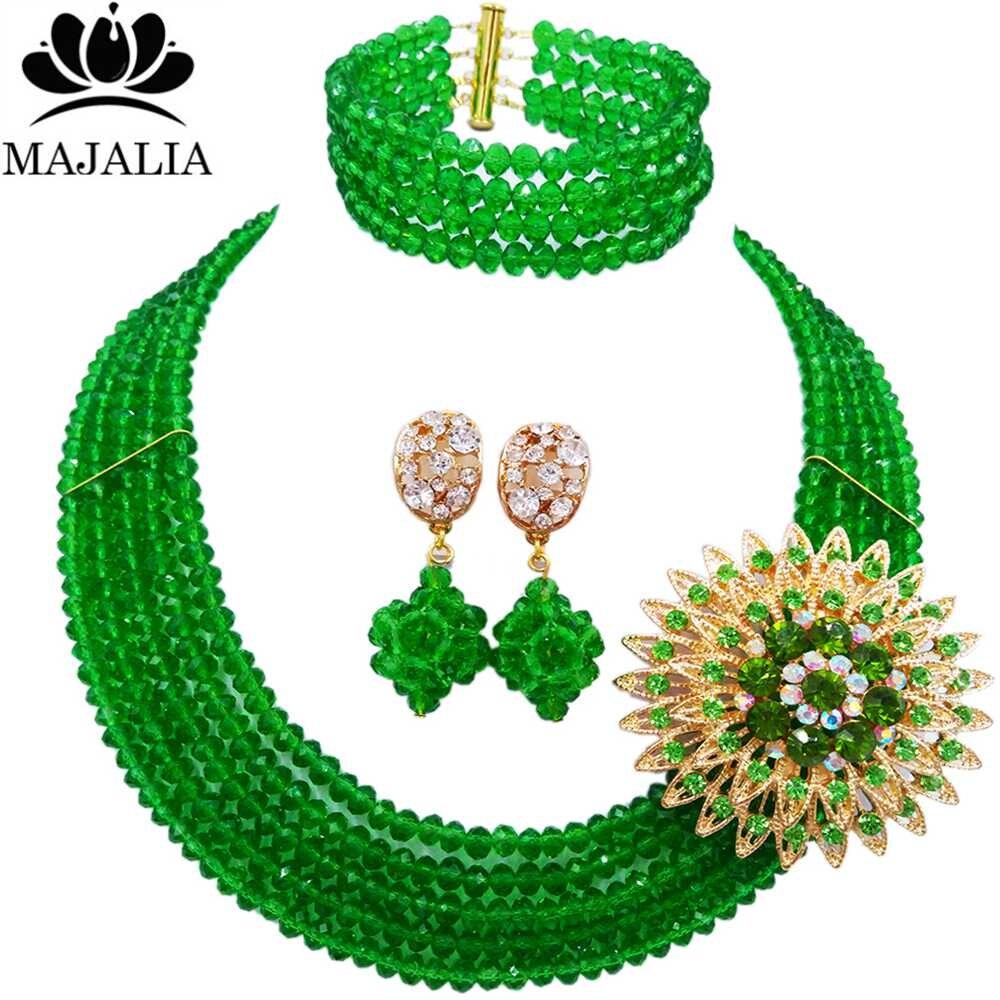 dae39990fecc Moda Nigeria boda Africana cuentas de joyería conjunto cristal amarillo  collar de perlas de plástico Juegos de joyería para novia envío libre  vv-085USD ...