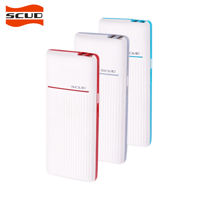 Sucd portable 10000mah power bank dc 5v 2 1a max dual output light power bank for