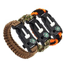 4 in 1 Braided Paracord Bracelet Multi-function Survival Rop